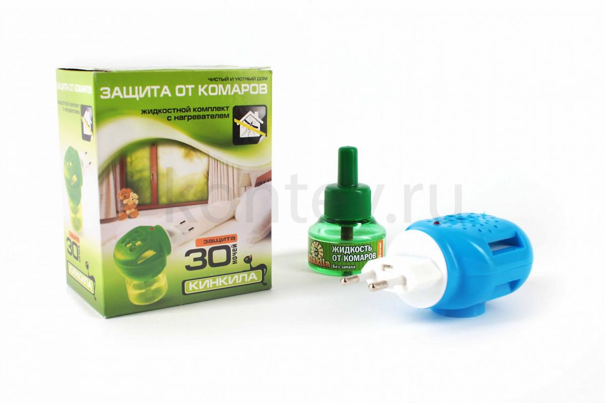 """Жидкостный комплект """"защита от комаров"""" 30 ночей КИНКИЛА"""